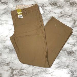 Old Navy Straight Brown Khaki Pants Size 14 NWT